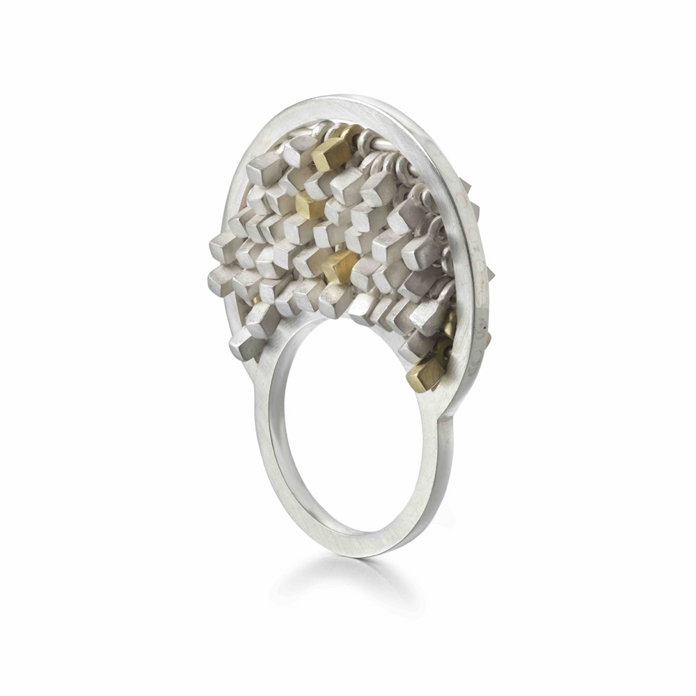 two faced sequin ring